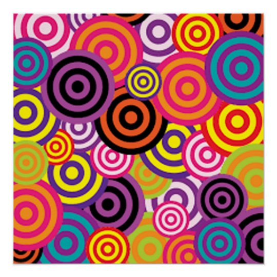 Colourful Target Circles Poster