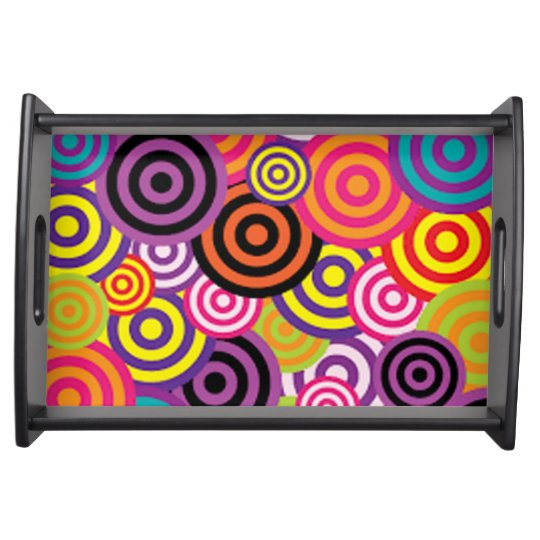 Colourful Target Circles Serving Tray