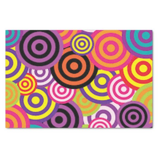Colourful Target Circles Tissue Paper