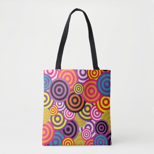 Colourful Target Circles Tote Bag