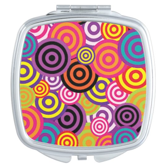 Colourful Target Circles Travel Mirror
