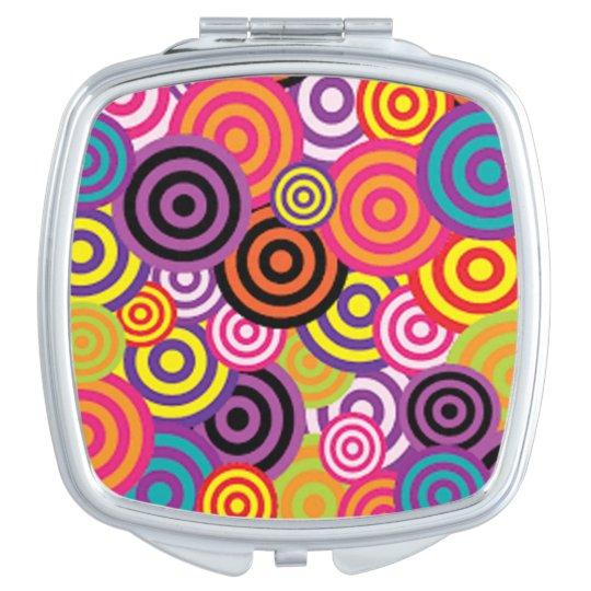 Colourful Target Circles Vanity Mirror