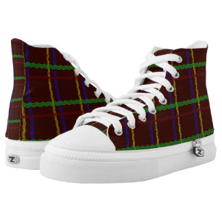 Colourful Tartan Hi Tops