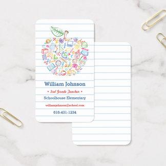 Colourful Teachers Apple Business Card
