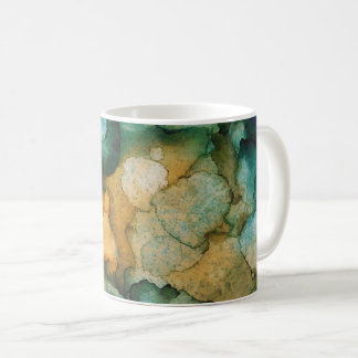 Colourful Teal Green Blue and Tangerine Orange Coffee Mug