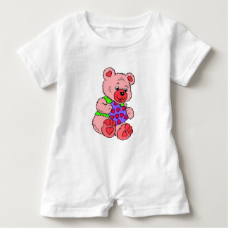 Colourful  Teddy Bears Baby Romper
