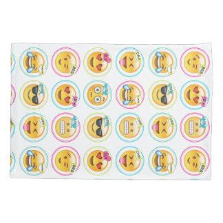 Colourful Text Emoji Pillowcase