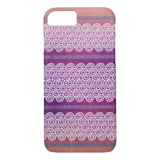 Colourful Textured Violet Wave Pattern Case