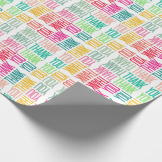 Colourful Thanks Cheerful Appreciation Gift Wrap