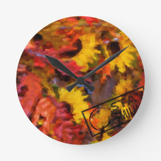 Colourful Thanksgiving Round Clock