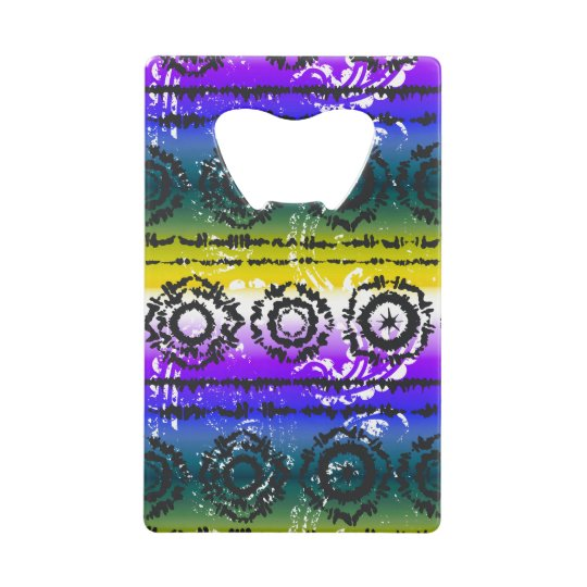 Colourful Tie Dye Batik Design Bottle Opener Credit Card Bottle Opener