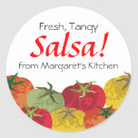 colourful tomatoes from my kitchen gift tag round stickers