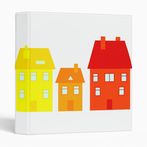 Colourful Town Vinyl Binder