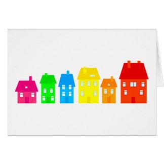 Colourful Town Card