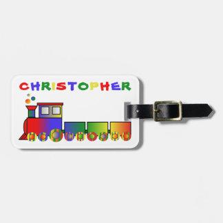 Colourful Train Personalized Luggage Tag
