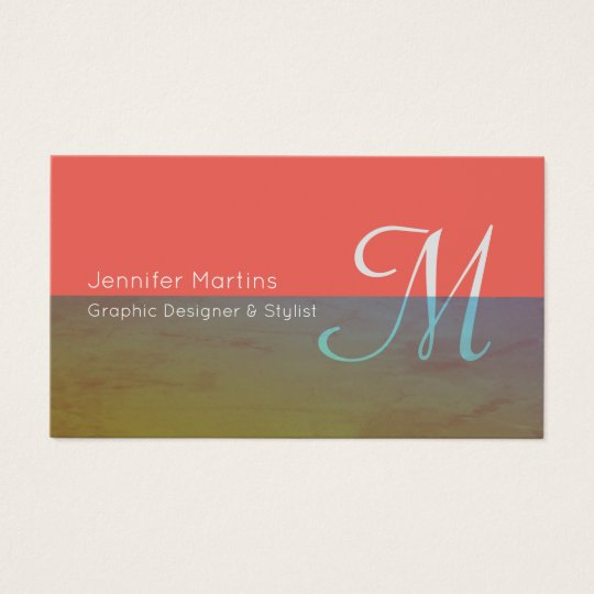 Colourful transparent stripe business card