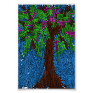 Colourful tree poster