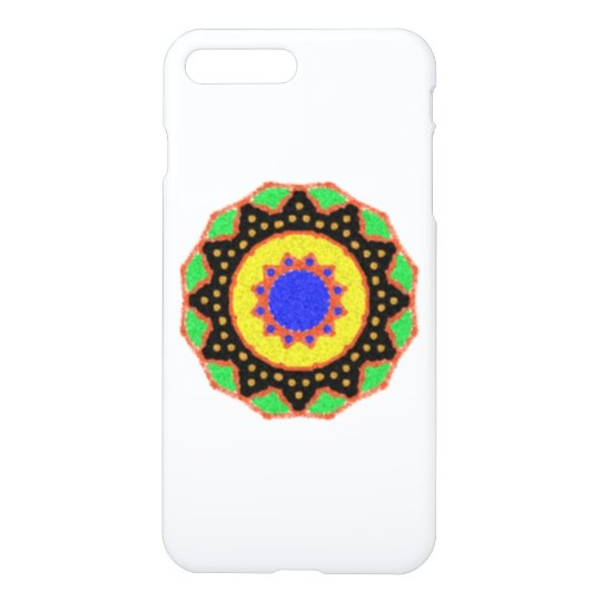 Colourful trendy abstract pattern iPhone 7 plus case