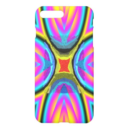 Colourful trendy pattern iPhone 7 plus case