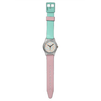 Colourful Triangles Pattern Wristwatch