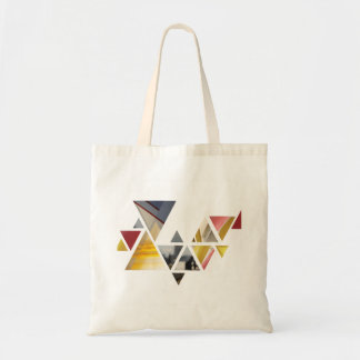 Colourful triangles tote bag