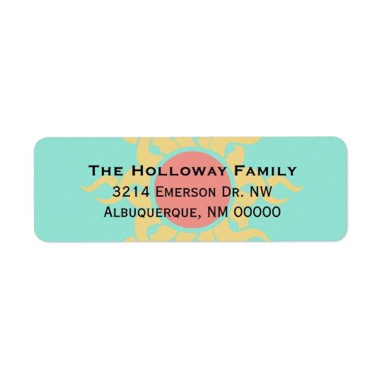 Colourful Tribal Sun Return Address Return Address Label