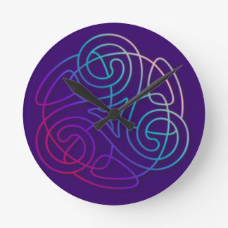 Colourful triskele image round clock
