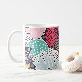 Colourful Tropical Collage Navy Mug