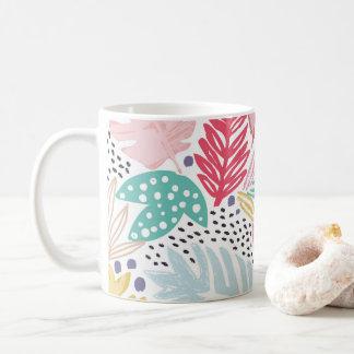 Colourful Tropical Collage White Mug
