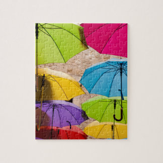 Colourful Umbrellas Jigsaw Puzzle
