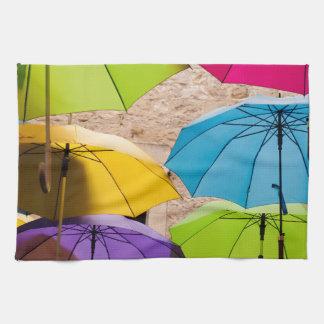 Colourful Umbrellas Kitchen Towel