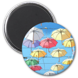 Colourful Umbrellas Magnet