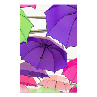 Colourful umbrellas stationery