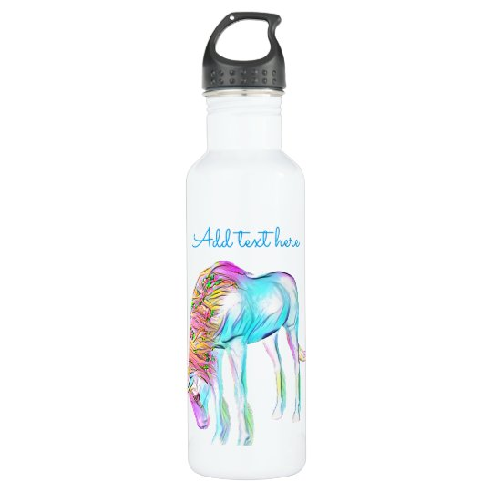 Colourful unicorn water bottle