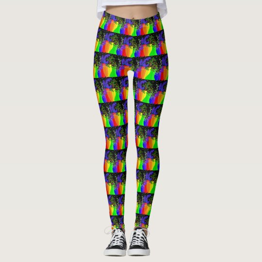 Colourful Vases Design Leggings