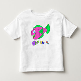Colourful Vector Fish Family Toddler T-shirt