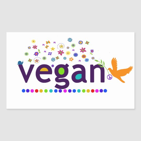 Colourful Vegan Sticker