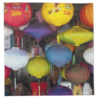 Colourful Vietnamese lanterns Napkin