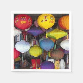 Colourful Vietnamese lanterns Paper Napkin