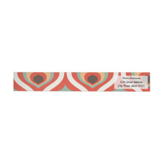Colourful vintage droplets wrap around label