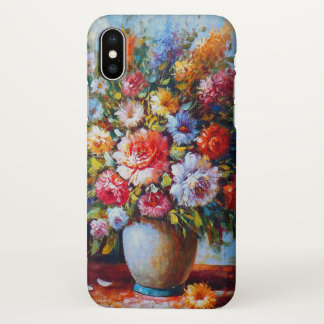 Colourful Vintage Floral iPhone X Case