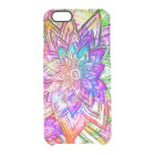 Colourful Vintage Floral Pattern Drawing Clear iPhone 6/6S Case