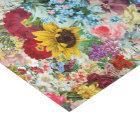 Colourful Vintage Floral tissue paper