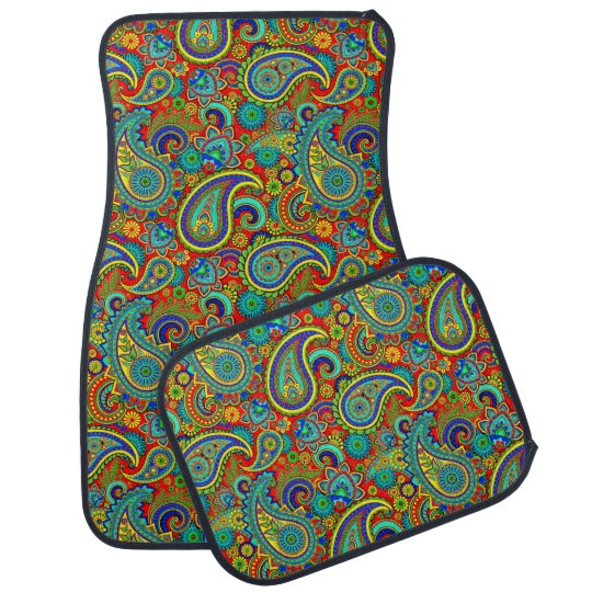 Colourful Vintage Orante Paisley Car Mat