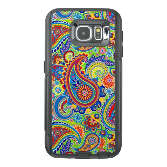 Colourful Vintage Paisley Seamless Pattern OtterBox Samsung Galaxy S6 Case