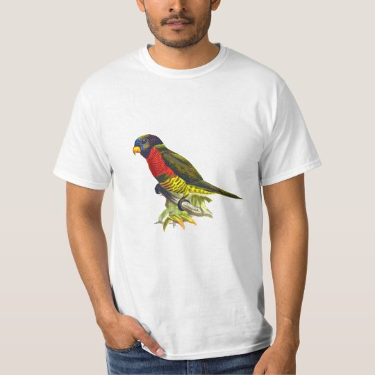 Colourful vintage parrot illustration man T-Shirt