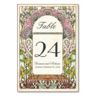 Colourful Vintage Wedding Table Numbers