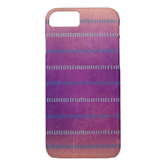 Colourful Violet Textured Lines Pattern Case