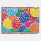 Colourful Volleyball Collage Throw Blanket