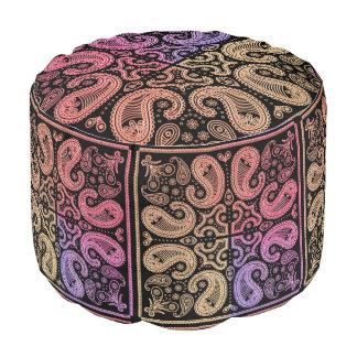 Colourful Warm Mandala Pouf